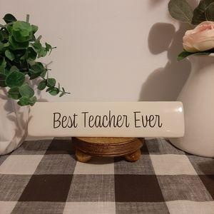 """Ceramic desk sign """"Teacher"""""""